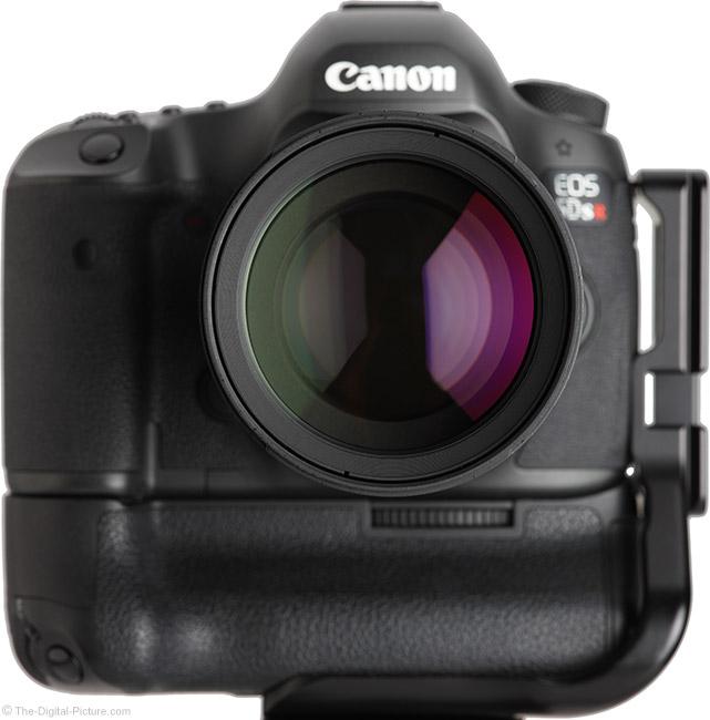 Samyang 135mm f/2 ED UMC Lens Front View on Camera