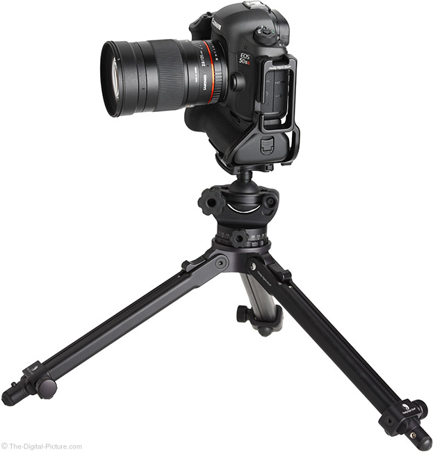 Samyang 135mm f/2 ED UMC Lens on Tripod Side View