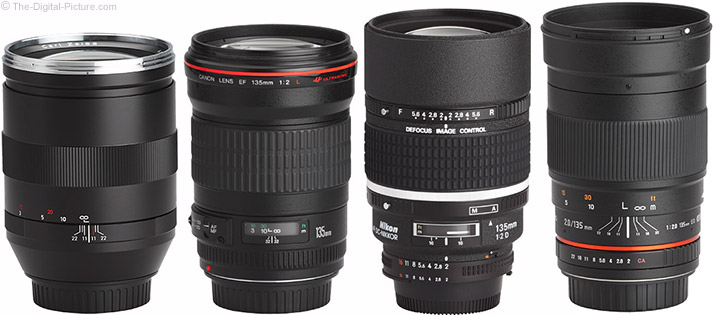 Samyang 135mm f/2 ED UMC Lens Compared to Similar Lenses