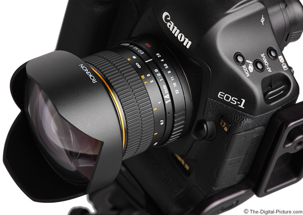 Samyang 14mm f/2.8 IF ED UMC Lens Angled Close-Up