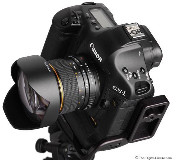 Samyang 14mm f/2.8 IF ED UMC Lens Angled