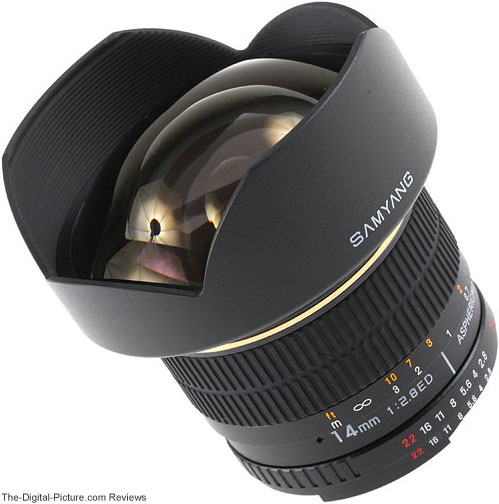 Samyang 14mm f/2.8 IF ED UMC Lens Front
