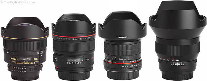Samyang 14mm f/2.8 Lens Compared to Similar Lenses