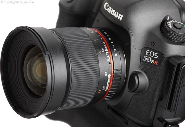 Samyang 16mm f/2 Lens Angle View