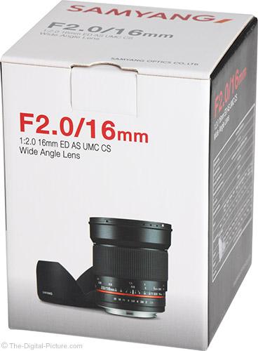 Samyang 16mm f/2 Lens Box