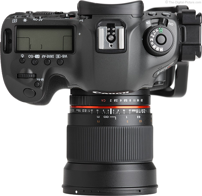 Samyang 16mm f/2 Lens Top View
