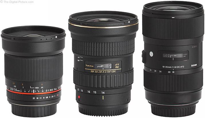 Samyang 16mm f/2 Lens Compared to Similar Lenses