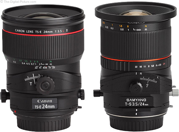 Samyang and Canon Tilt-Shift Lens Comparison