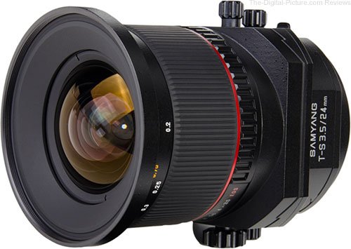 Samyang 24mm f/3.5 Tilt-Shift Lens from Front Angle