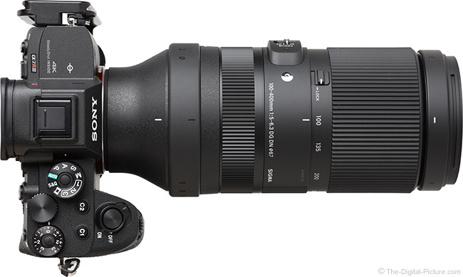 Sigma 100-400mm f/5-6.3 DG DN OS Contemporary Lens Top View