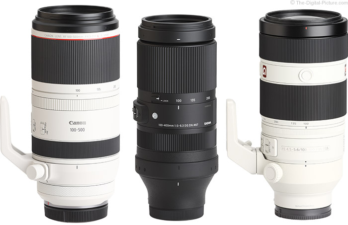 Sigma 100-400mm f/5-6.3 DG DN OS Contemporary Lens Compared to Similar Lenses