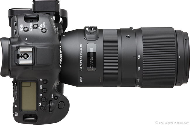 Sigma 100-400mm f/5-6.3 DG OS HSM C Lens Top View