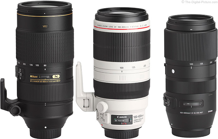 Sigma 100-400mm f/5-6.3 DG OS HSM C Lens Compared to Similar Lenses