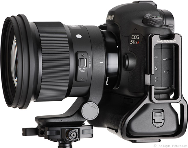 Sigma 105mm f/1.4 DG HSM Art Lens Side Angle View