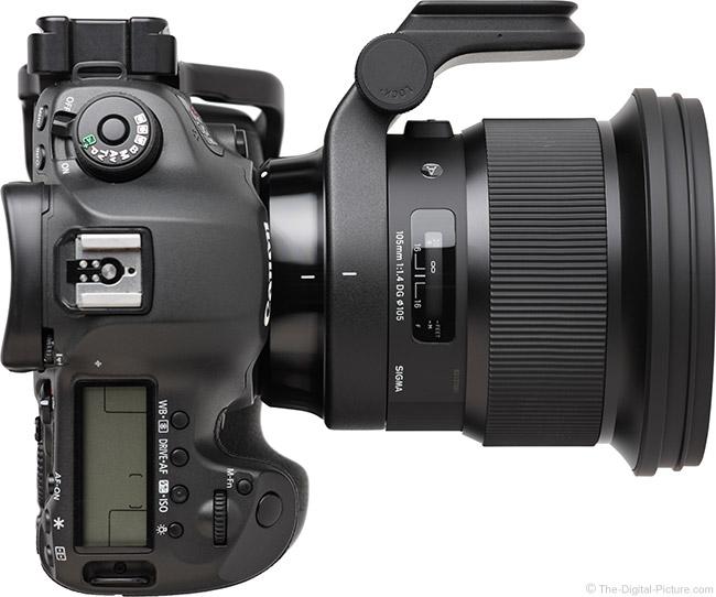 Sigma 105mm f/1.4 DG HSM Art Lens Top View