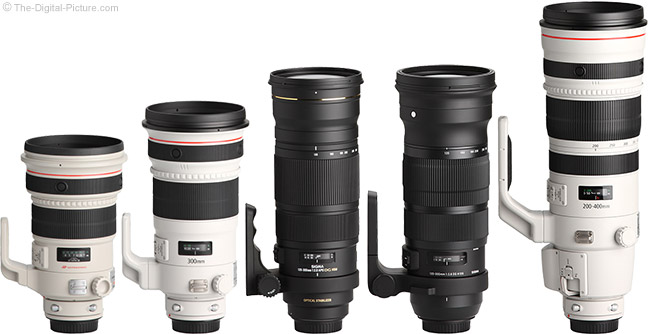 Sigma 120-300mm f/2.8 DG OS HSM Sports Lens Compared to Similar Lenses