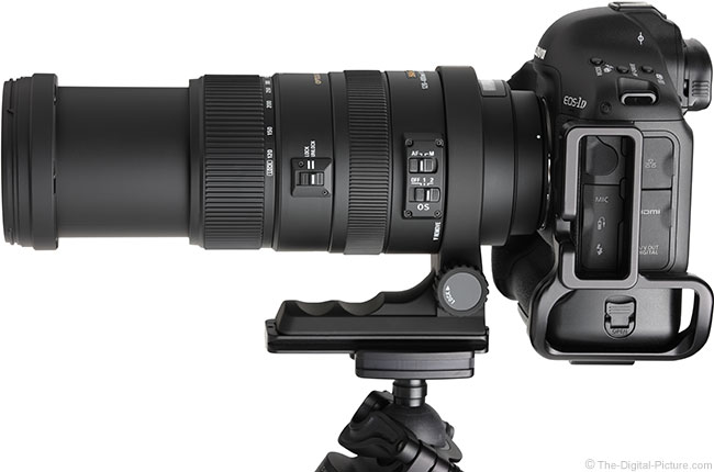 Sigma 120-400mm f/4.5-5.6 DG OS HSM Lens Extended on Camera
