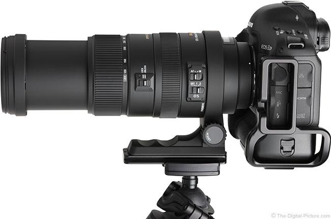 Sigma 120-400mm f/4.5-5.6 DG OS HSM Lens Extended on Camera