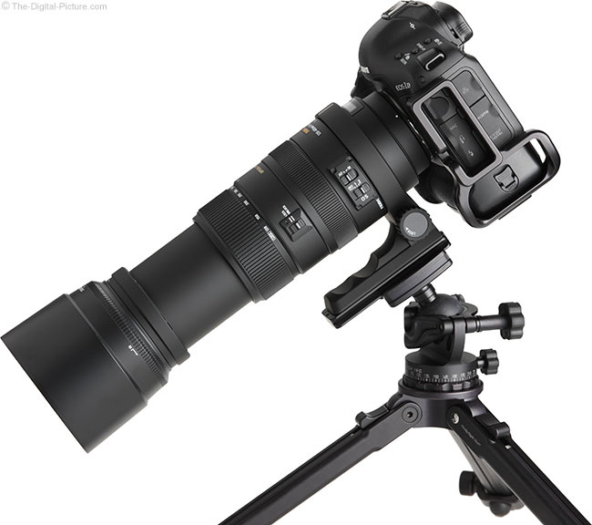 Sigma 120-400mm f/4.5-5.6 DG OS HSM Lens Extended on Tripod