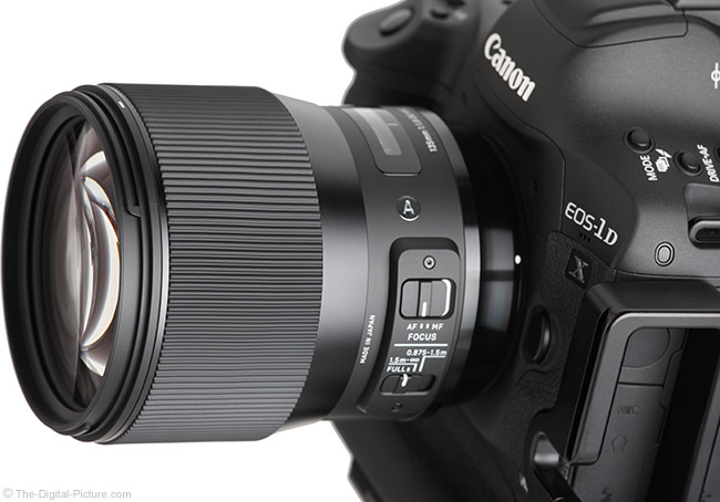 Sigma 135mm f/1.8 DG HSM Art Lens Angle View