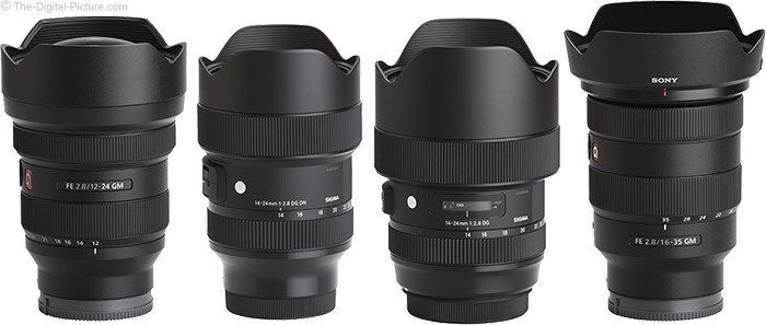 Sigma 14-24mm f/2.8 DG DN Art Lens Compared to Similar Lenses
