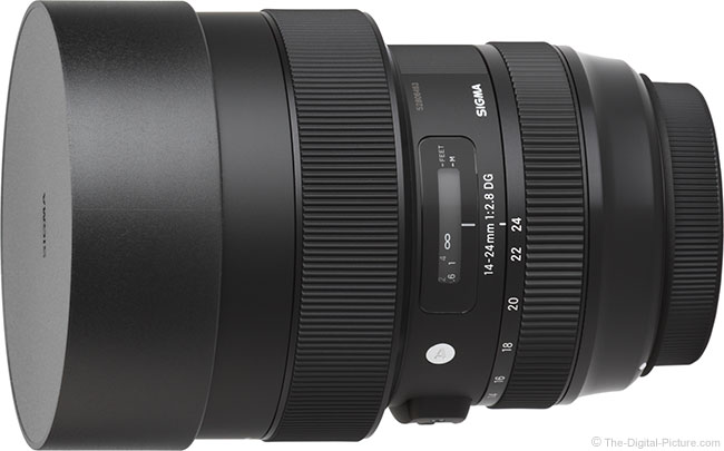 Sigma 14-24mm f/2.8 DG HSM Art Lens Cap On Lens