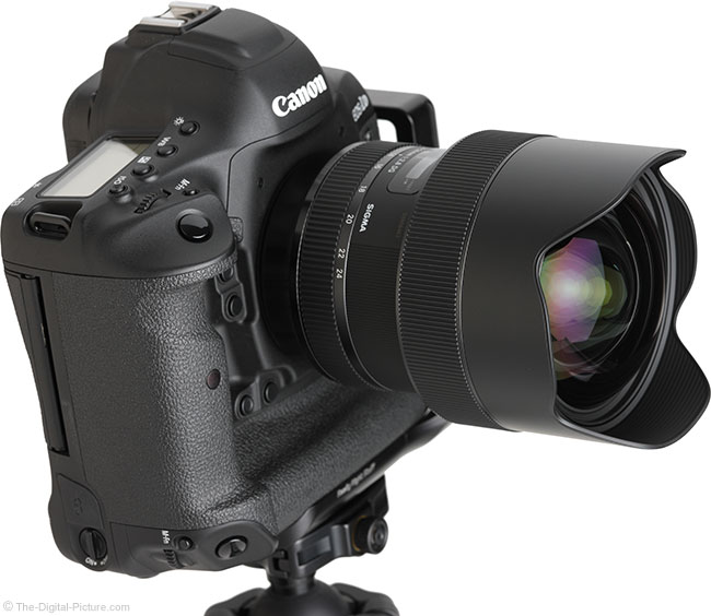 Sigma 14-24mm f/2.8 DG HSM Art Lens Front Angle View