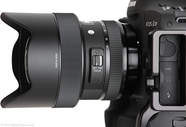 Sigma 14-24mm f/2.8 DG HSM Art Lens Side Angle View