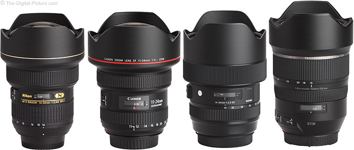 Sigma 14-24mm f/2.8 DG HSM Art Lens Compared to Similar Lenses