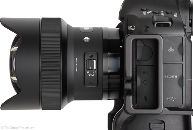 Sigma 14mm f/1.8 Art Lens Side View
