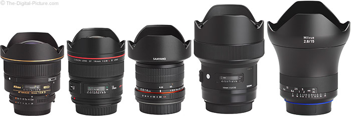Sigma 14mm f/1.8 Art Lens Compared to Similar Lenses