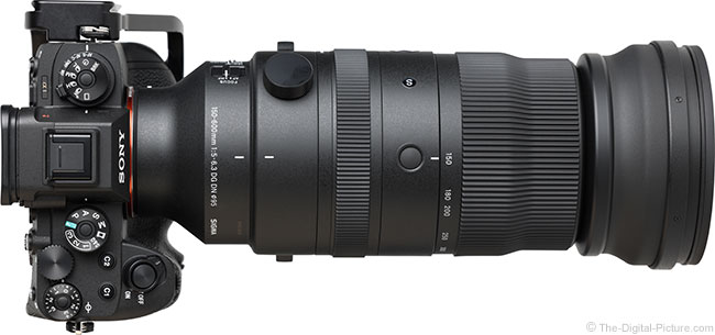 Sigma 150-600mm f/5-6.3 DG DN OS Sports Lens Top View