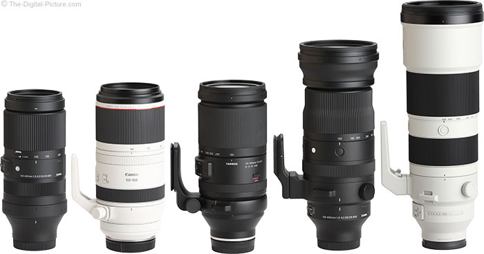 Sigma 150-600mm f/5-6.3 DG DN OS Sports Lens Compared to Similar Lenses