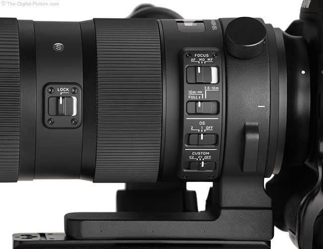 Sigma 150-600mm OS Sports Lens Switches