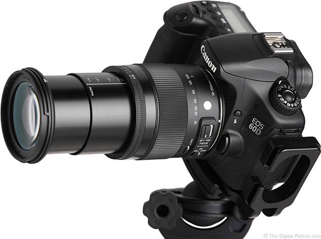 Sigma 18-200mm f/3.5-6.3 DC OS HSM C Lens Angle View - Extended