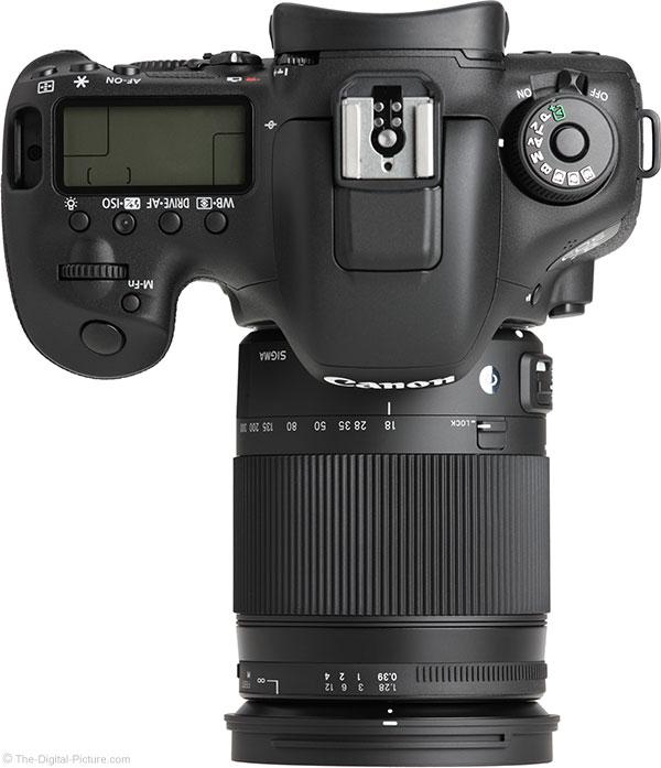 Sigma 18-300mm f/3.5-6.3 DC OS HSM Contemporary Lens – Top View
