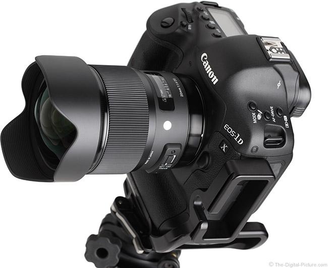 Sigma 20mm f/1.4 DG HSM Art Lens Angle On Camera
