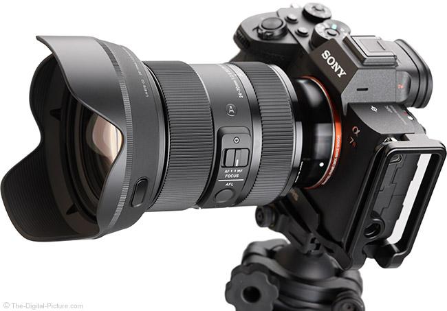Sigma 24-70mm f/2.8 DG DN Art Lens Angle View with Hood