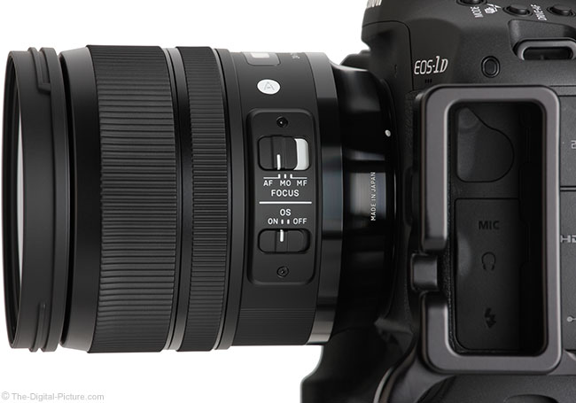 Sigma 24-70mm f/2.8 OS Art Lens Side View