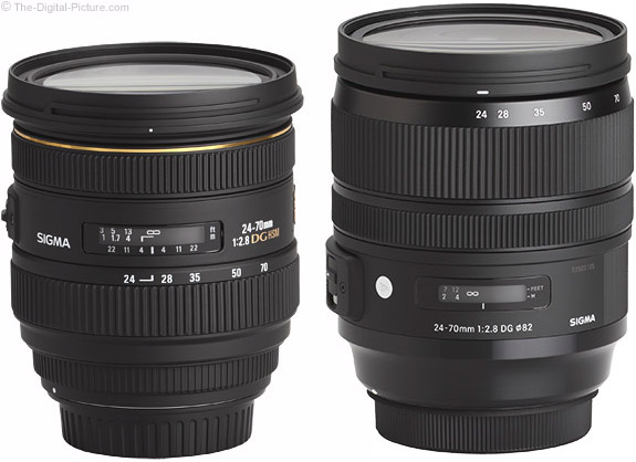 Sigma 24-70mm f/2.8 OS Art Lens Compared to Previous Version