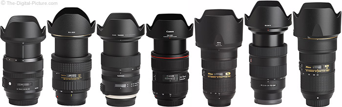 Sigma 24-70mm f/2.8 OS Art Lens Compared to Similar Lenses with Hoods