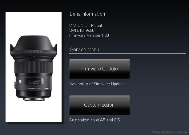Sigma 24mm Art Lens Dock Compatibility