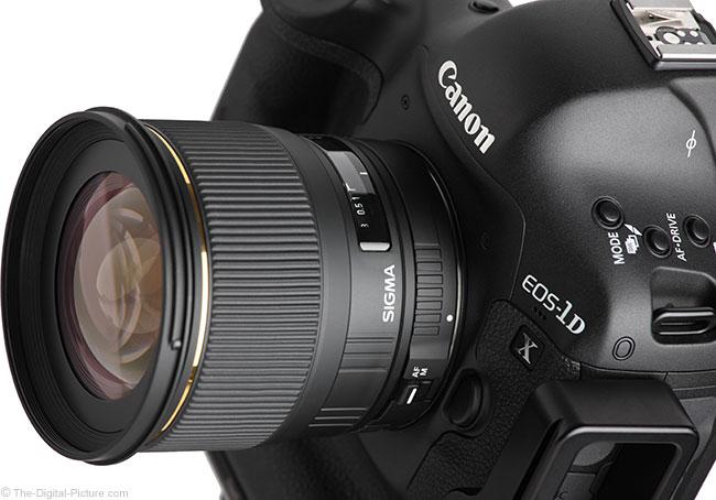 Sigma 24mm f/1.8 EX DG Lens Angle View