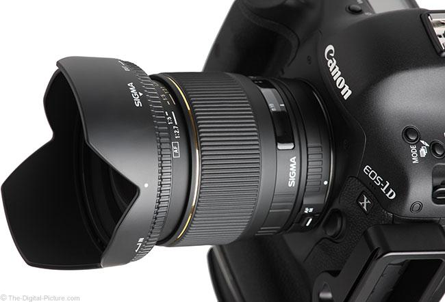 Sigma 24mm f/1.8 EX DG Lens High Angle View