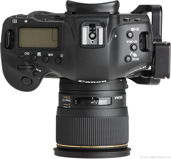 Sigma 24mm f/1.8 EX DG Lens Top View
