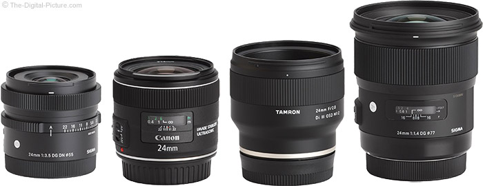 Sigma 24mm f/3.5 DG DN Contemporary Lens Compared to Similar Lenses