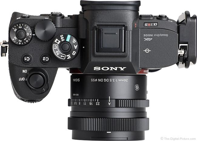 Sigma 24mm f/3.5 DG DN Contemporary Lens Top View