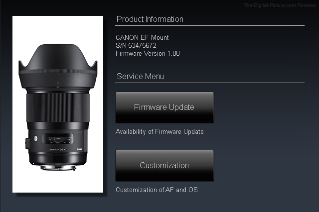 Sigma 28mm f/1.4 DG HSM Art Lens Dock Compatibility