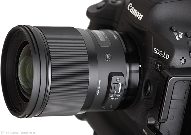 Sigma 28mm f/1.4 DG HSM Art Lens Angle View
