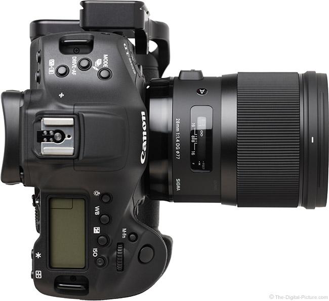Sigma 28mm f/1.4 DG HSM Art Lens Top View